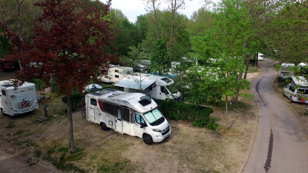Unser Stellplatz auf dem Campingplatz