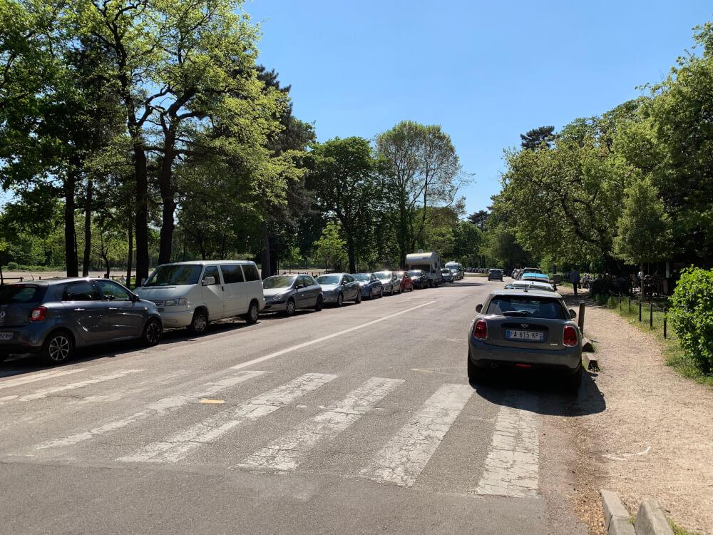 Wohnmobilstellplatz im Bois de Boulogne