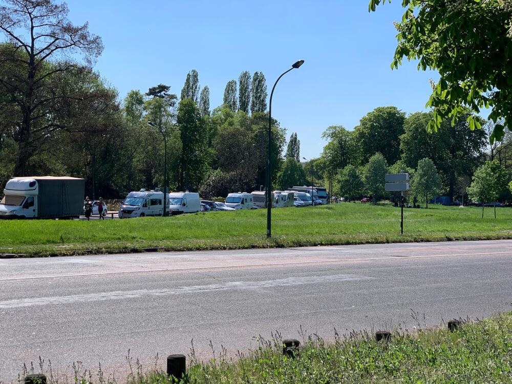 Wohnmobilstellplatz an der Route de Tribunes