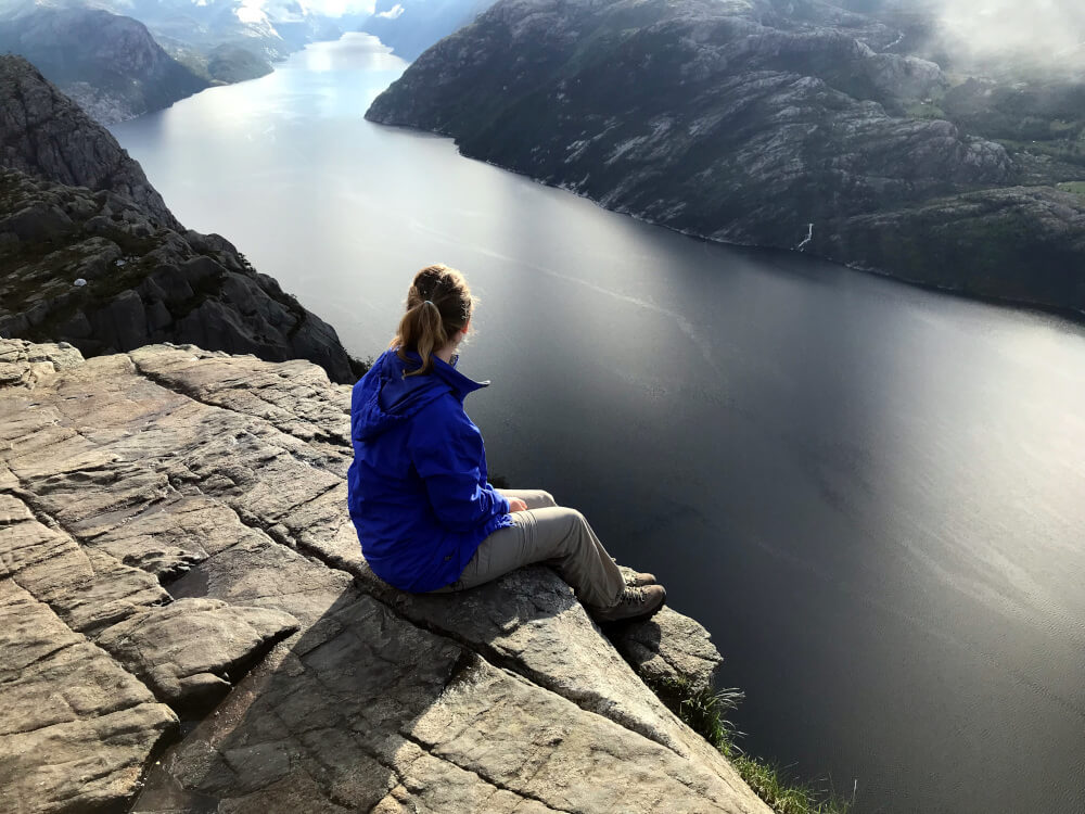 Geschafft: Der Blick auf den Lysefjord