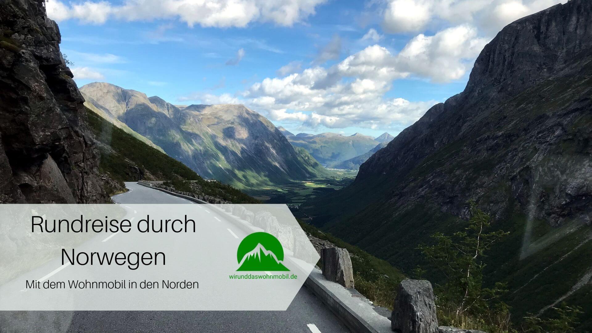 Titelbild Rundreise durch Norwegen Straße Berge