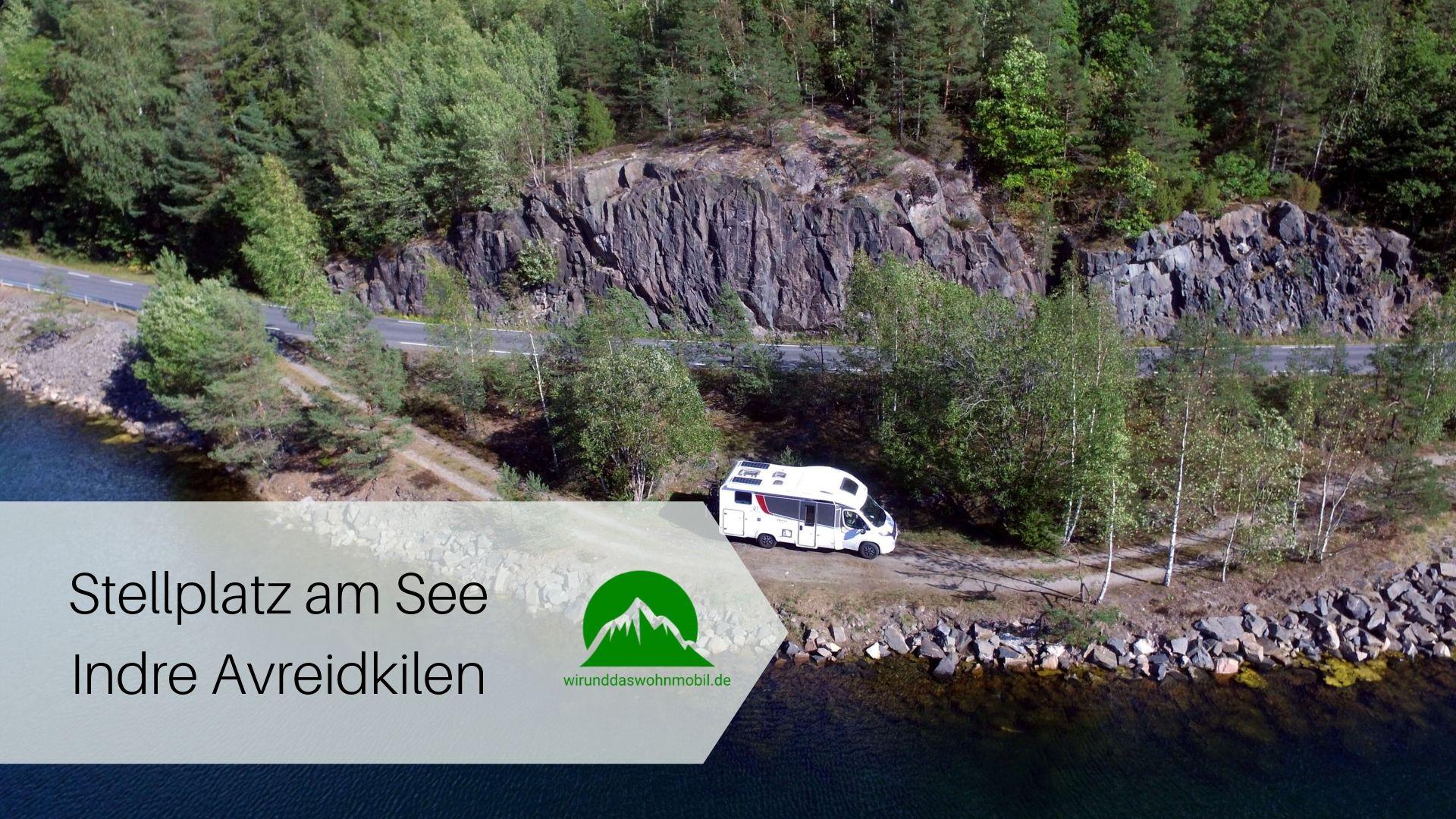 Wohnmobil am See Indre Avreidkilen in Norwegen