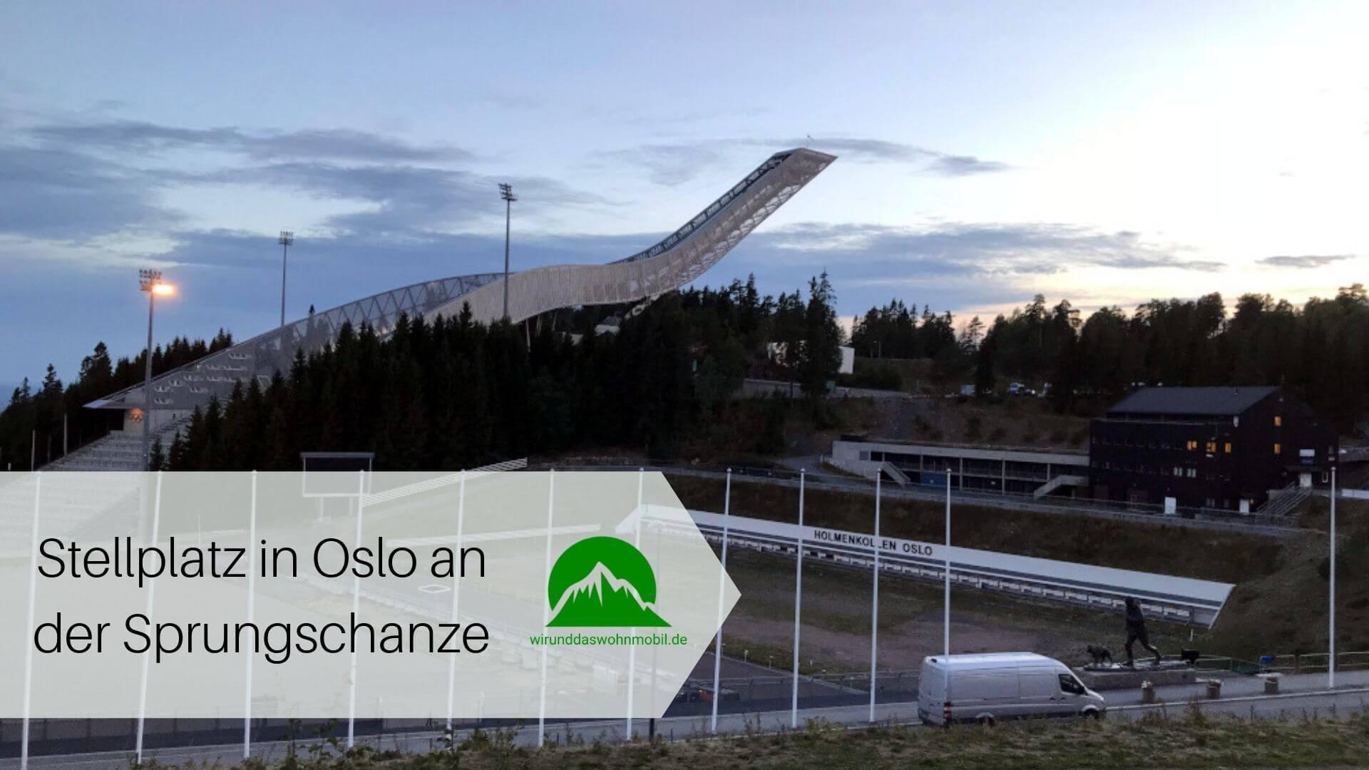 Sprungschanze Holmenkollen in Oslo mit Biathlonanlage