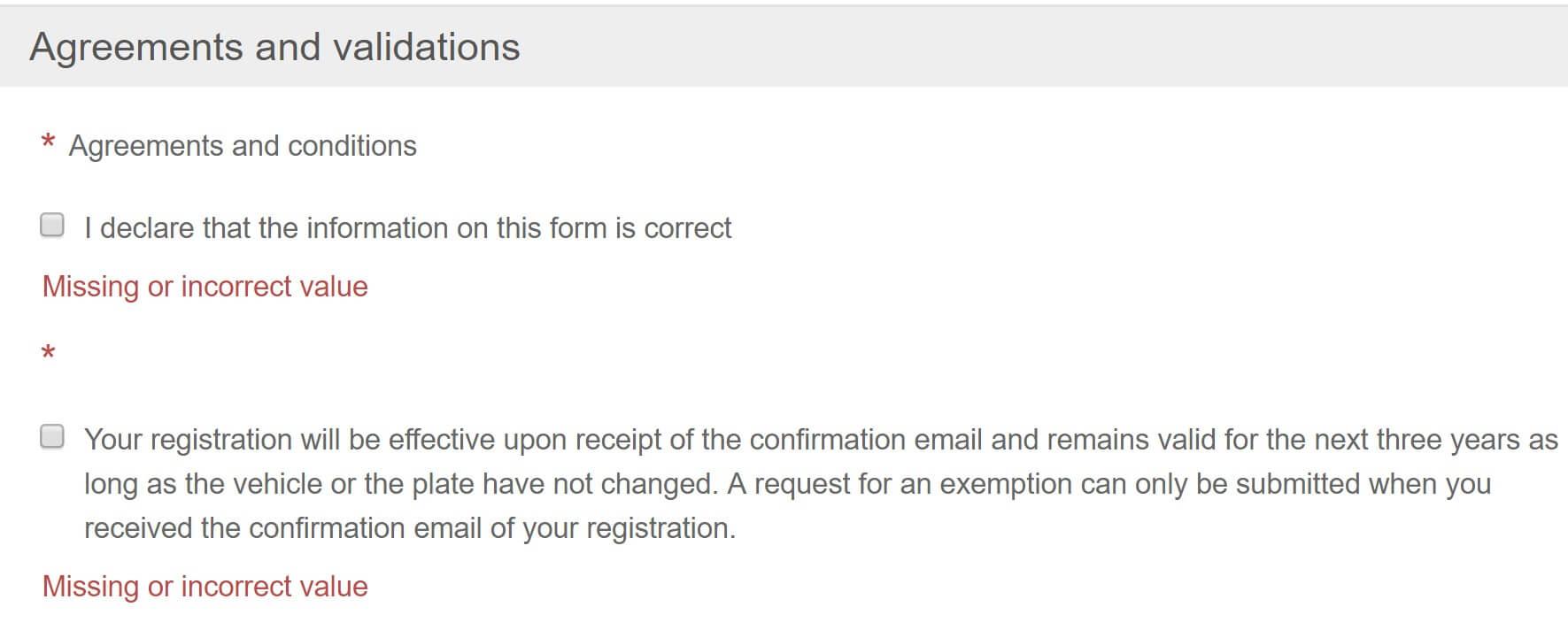 Screenshot Umwetzone Brüssel Registrierung Bestätigung