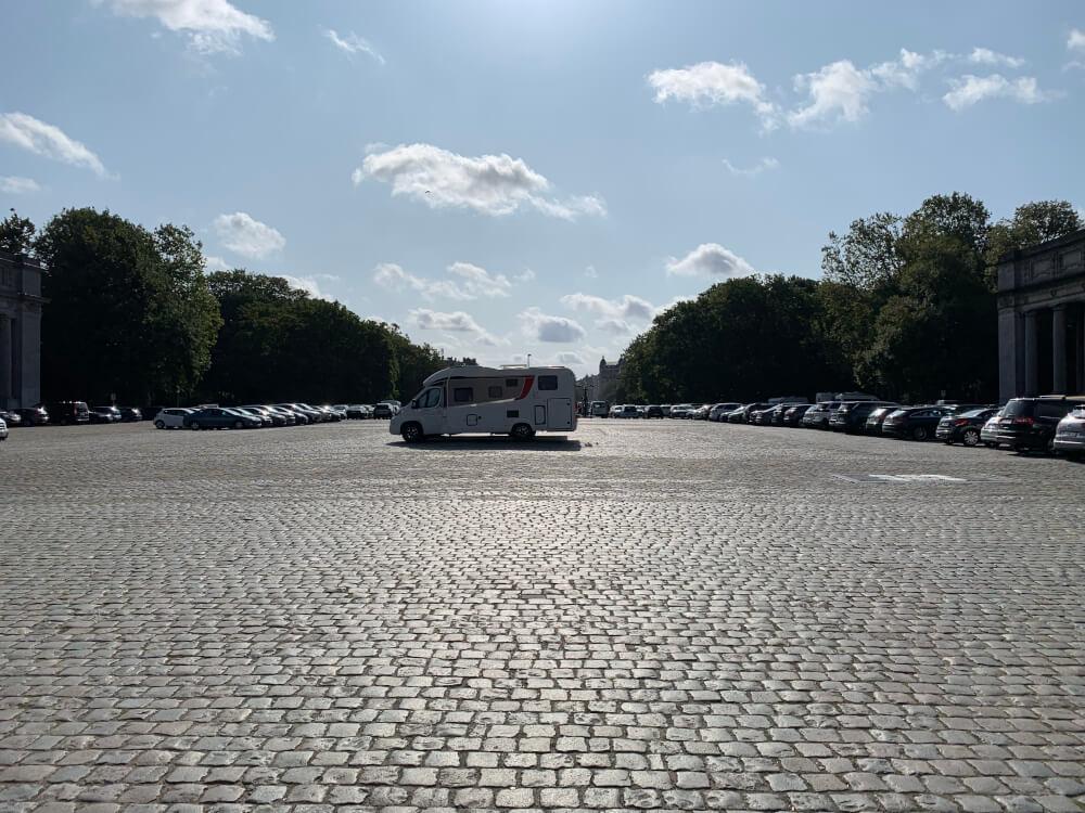 Stellplatz in den Innenstadt von Brüssel