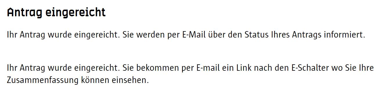 Screenshot Umwetzone Antwerpen Registrierung Antrag eingereicht
