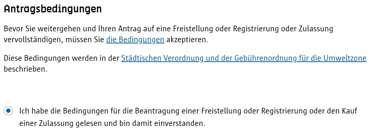 Screenshot Umwetzone Antwerpen Registrierung Antragsbedingungen