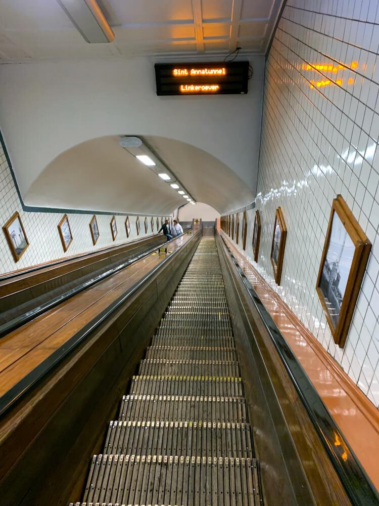 Sint Annatunnel in Antwerpen