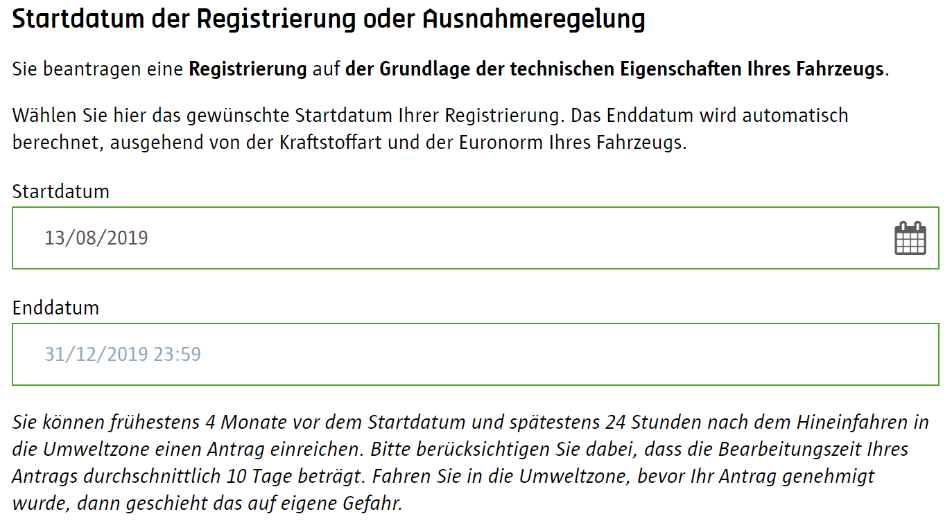 Screenshot Umwetzone Antwerpen Registrierung Startdatum