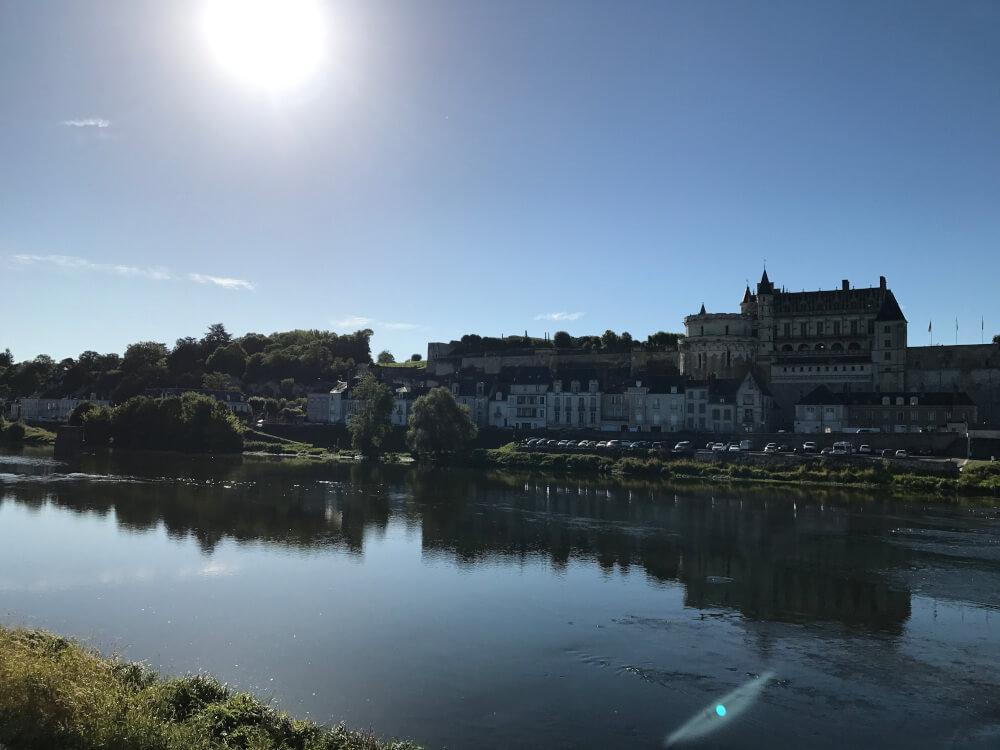Blick über die Loire auf Amboise