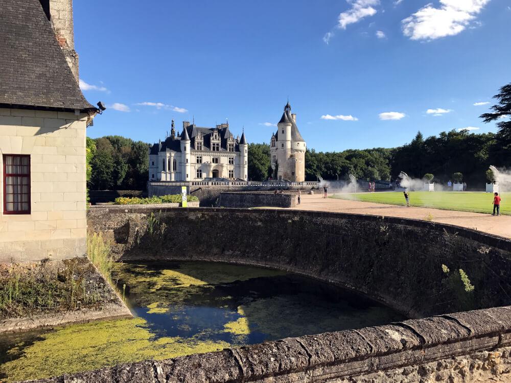 Blick auf das Schloss Chenonceau