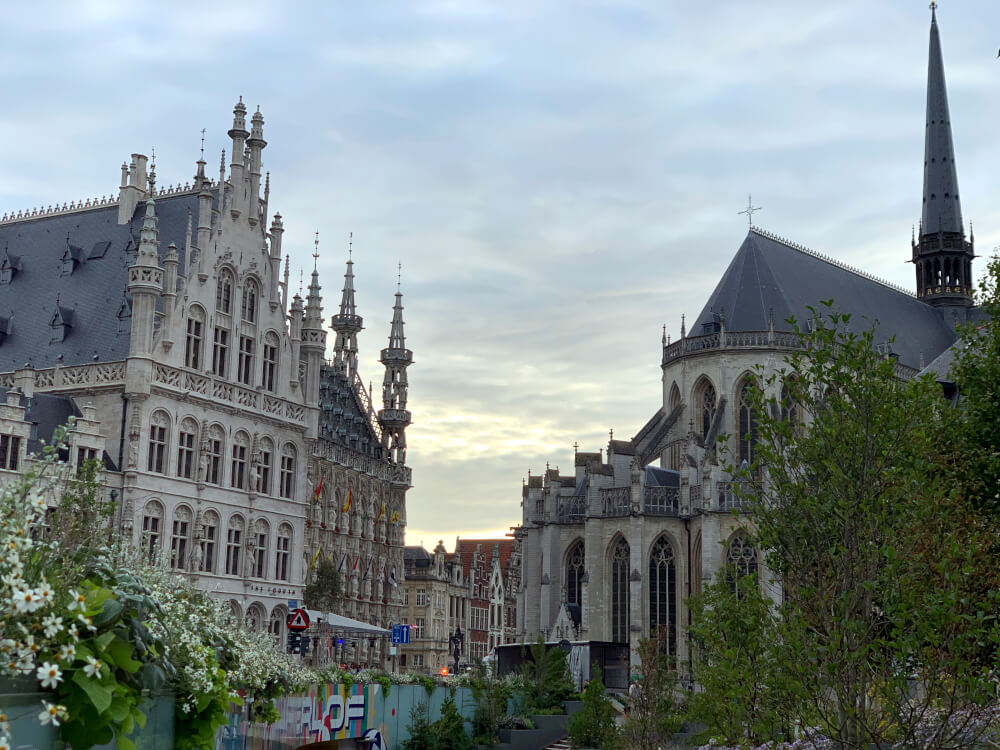 Rathaus in Belgien in der Stadt Löwen