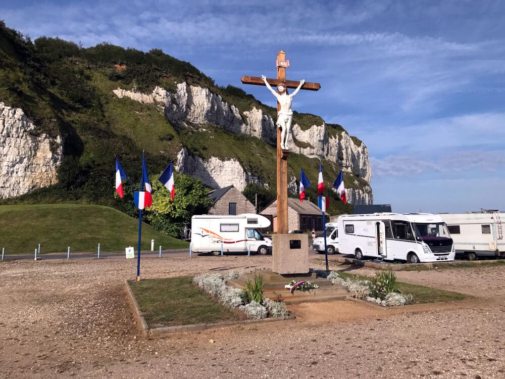 Wohnmobilstellplatz in St.-Valery-en-Caux am Meer