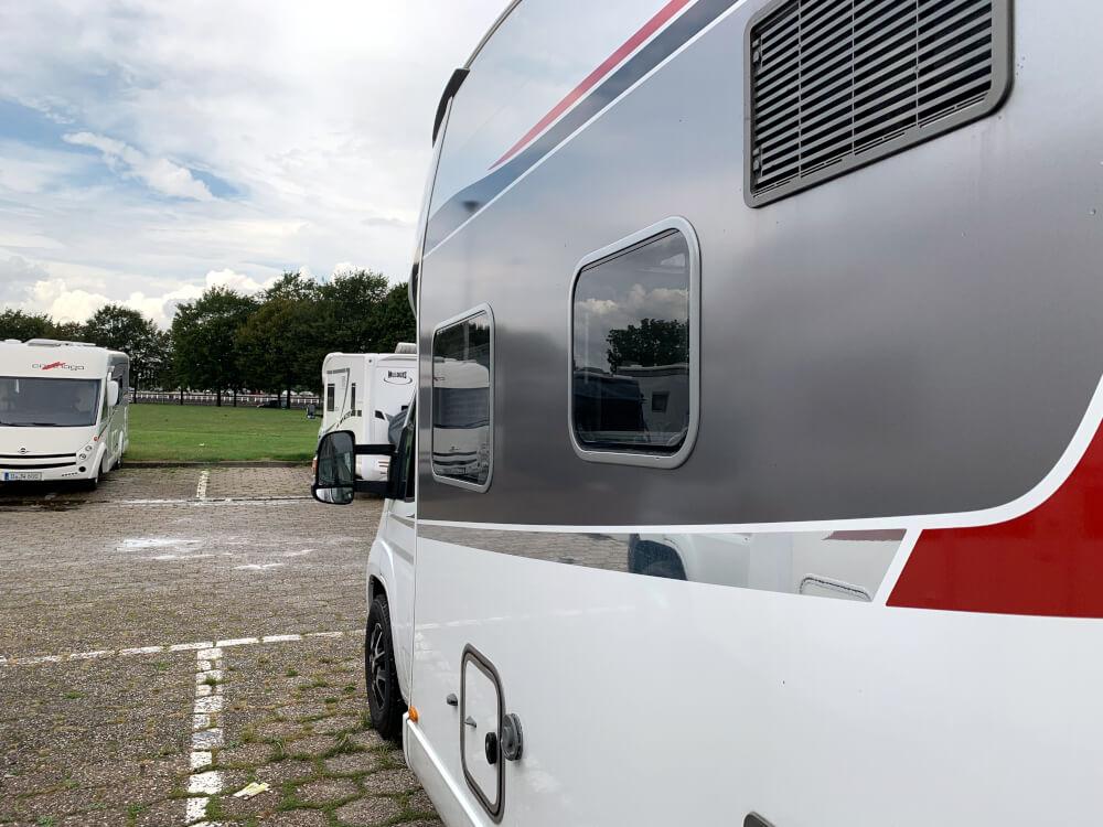 Das Wohnmobil in Belgien auf dem Wohnmobilstellplatz in Gent