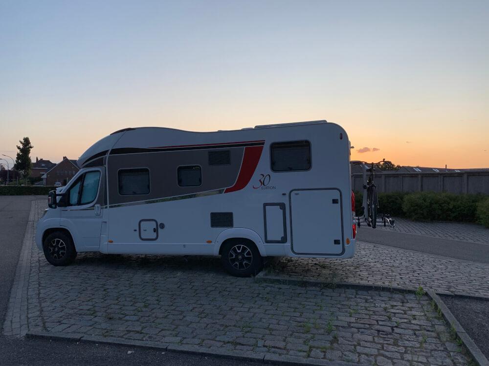 Mit dem Wohnmobil in Belgien auf dem Stellplatz von Löwen