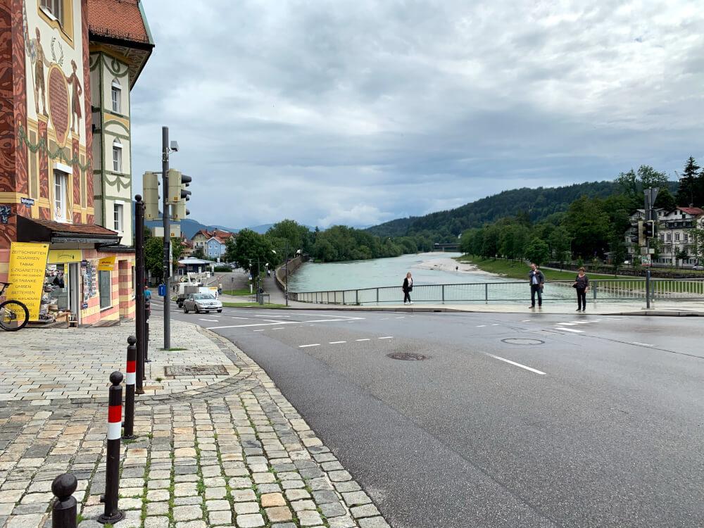 Markstraße und Isar in Bad Tölz
