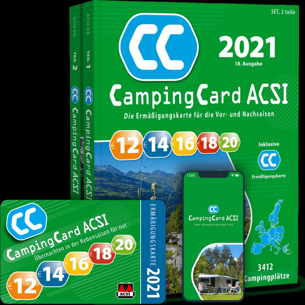 Camping Card ACSI mit App und Campingführer