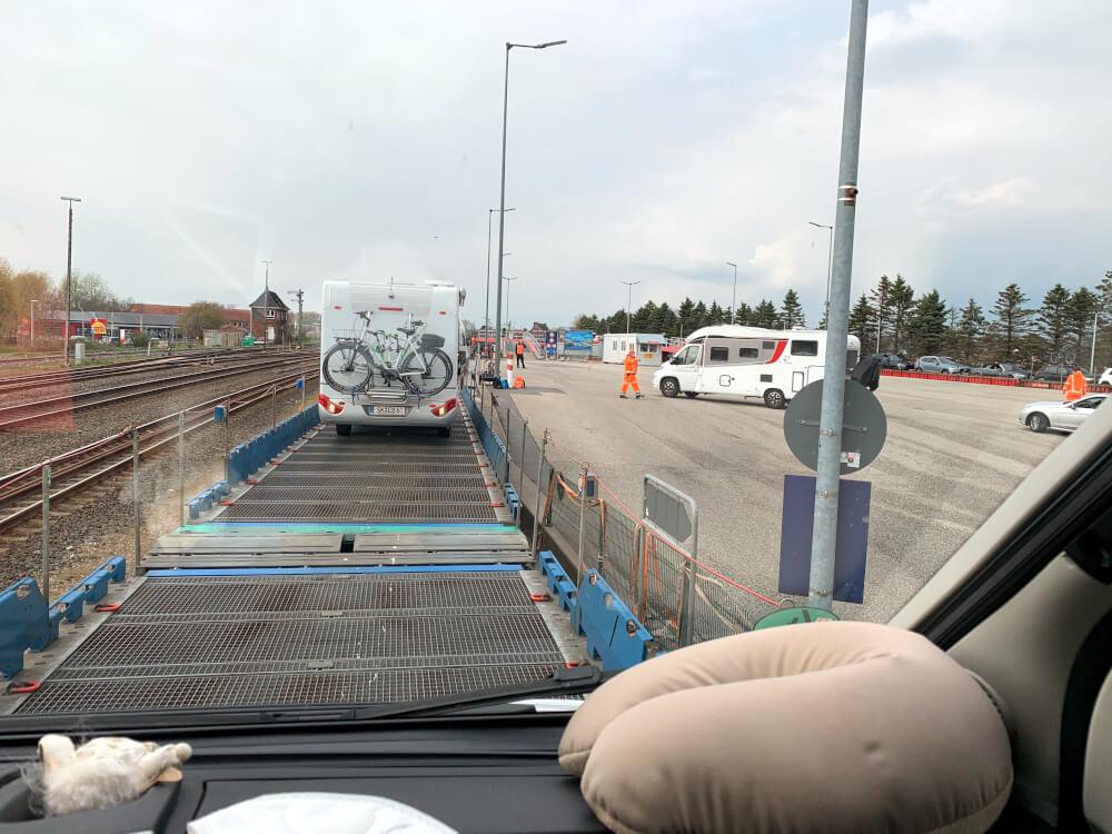 Auf dem Autozug nach Sylt mit dem Wohnmobil