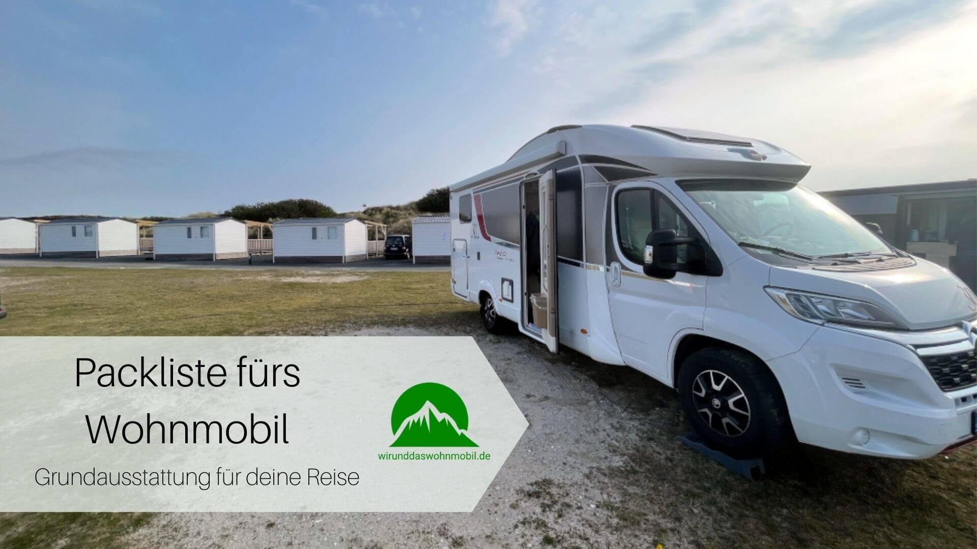 Packliste Wohnmobil und Camping